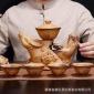 仿古陶瓷自动功夫茶具 紫气东来懒人功夫茶具工艺泡茶器礼品套装