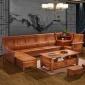 中式仿古全实木香樟木沙发组合明清古典红木转角贵妃储物客厅家具